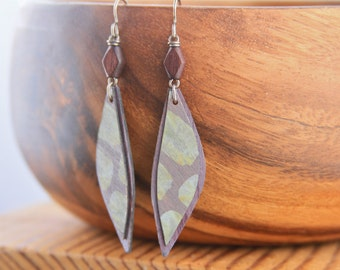 Modern Rustic Pastel Perfection Hand Painted Birch Wood Earrings