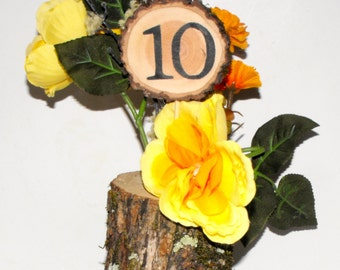 Table Numbers Wedding, Rustic Wood Table Numbers, Tall single sided Table numbers, Rustic Wedding, Country barn weddings, Party or Event