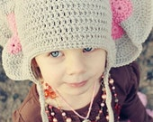 PDF, Crochet Elephant Hat, Elephant Hat Pattern, Crochet Hat, Baby Elephant Beanie, PDF Pattern
