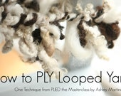 How to Ply LOOPED Yarn. A HD spinning video tutorial by Ashley Martineau. Technique #20 from PLIED masterclass. (14:10)