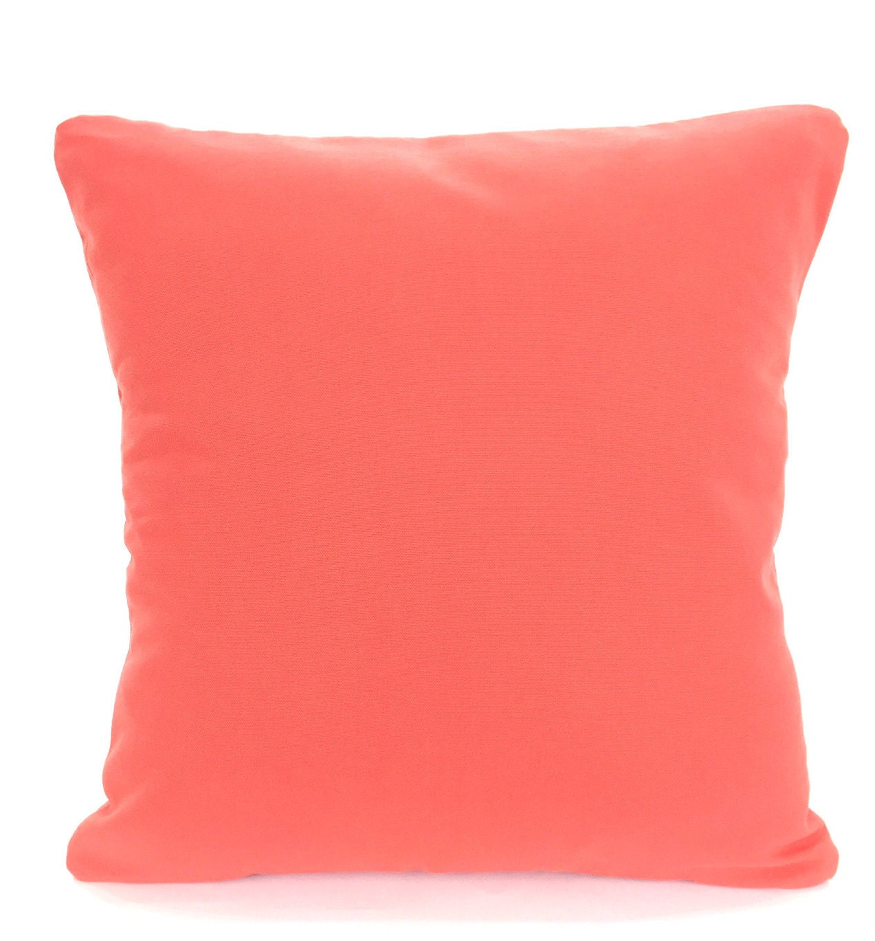 Throw Pillows With Coral : Solid Coral Pillow Covers Decorative Throw Pillow Cushion