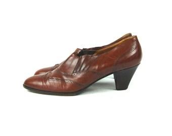 Ralph Lauren Wingtip High Heels, Made in Italy