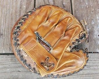 Vintage JC Higgins Baseball Catcher's Mitt Glove