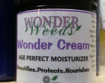 WONDER CREAM, ALL Natural Moisturizer, Organic Ingredients, Face Cream, Face Moisturizer, anti-aging