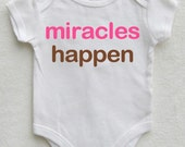 Miracles Happen Miracle Baby Onesie Miracle Onsie Baby Coming Home Outfit Girl Newborn Baby Girl Photo Outfit Baby Girl Newborn Outfit Prop