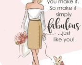 Wall Art for Women - Today is What You Make of It - Wall Art Print -  Digital Art Print -  Wall Art -- Print