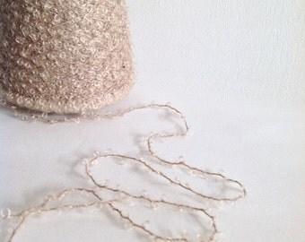 MOHAIR WOOL Boucle yarn DESSERT Sand