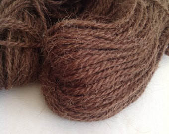 GOATHAIR & WOOL YARN - Natural Brown - Here comes the goat! Big Hank's 250gr/8.8oz
