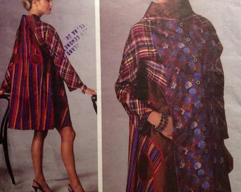 Vogue American Designer Sewing Pattern KOOS Couture Coat Size 4-14 Wearable Art Patchwork 2015 Uncut