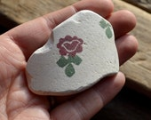 FLORAL SEA POTTERY - Scottish Spongeware -  Beach Pottery Pendant Supplies (4133)
