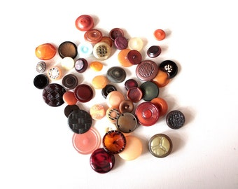 50 Vintage Buttons // Mixed Lot // 40s 50s 60s //  New Old Stock Buttons // Assorted Sample Pack // Destash  // BD203