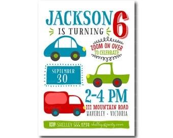 Transport Party Invite | 3rd, 4th, 5th, 6th, 7th Birthday Invitation | Party | Printable DIY |  1st birthday 1484