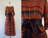 1960s Tuscan Villa bohemian maxi dress / 60s southern beauty