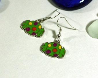 Green, Yellow, Orange, and Purple Halloween Candy Charm Earrings