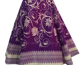 Starla Purple Shwe-Shwe flared Skirt
