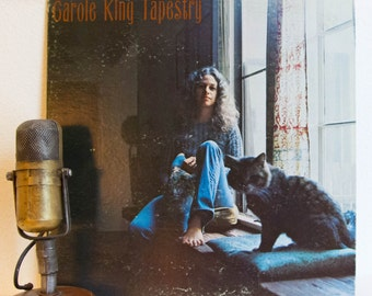 """ON SALE Carole King Vinyl Record Album 1970s Female Singer Songwriter Vocals Pop """"Tapestry"""" (1970s Ode w/""""You've Got A Friend"""", """"A Natural W"""