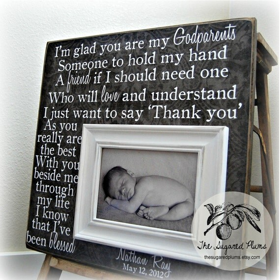 Baptism Gift, Godparent Gift, Christening Gift, Baptism Gift for Godparent, Godmother Gift, Will you be my Godmother, Godfather Gift 16x16