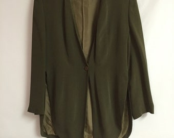 Giorgio Armani Jacket / Miliano Borgonuovo /Black Label Armani's Premier Collection/Designer Clothing/Lined Olive Green By Gatormom13
