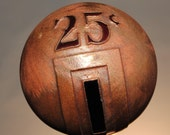 Coin Slot #008 - Art Glass Orb with Copper by Tim Keyzers