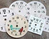 Alarm Clock Faces -- paper -- set of 6 -- D2