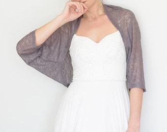 Wedding cover up, lilac gray shawl, wedding bolero, shoulder wrap, wedding wrap, lace cover up, shawls and wraps