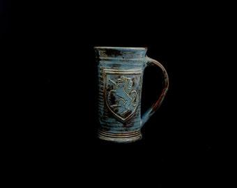 Stoneware Heraldic Horse Mug