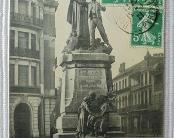Vintage French Postcard - Monument to the Fighters of the Hautes Pyrénées, Tarbes, France