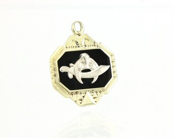 Shriner Pendant Charm Fob - 14K Gold Antique Masonic