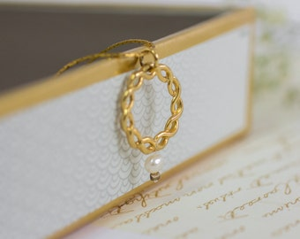Gift For Her, Infinity Jewelry, Gold Infinity Charm Necklace, Bridal Jewelry, Infinity Pearl Necklace, Gold Pendant Necklace, Gold Jewelry