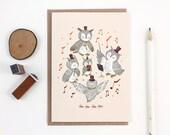 Hoo Hoo Happy Birthday, Owl - Copper Foil Greeting Card