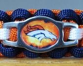 Denver Broncos Bracelet, Paracord Bracelet, Survival Bracelet