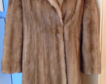 Honey Brown Full Length Mink Coat