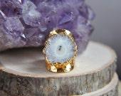 Solar Quartz Ring, Solar Quartz Jewelry, Quartz Ring, Quartz Jewelry, Boho Ring, Boho Jewelry, Gold Ring, Statement Ring, Stone Ring, Gypsy