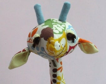 Gemini soft toy giraffe sewing pattern - 18 inches tall (45 cm)