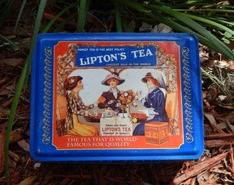 Vintage Lipton's Tea Tin~Limited Edition~Collectible Tins