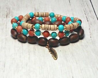Stretch Bead Bracelet - Stack Able Bracelet Set - Bead Bracelet - Boho Bracelet - Gifts For Her