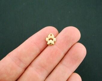 4 Paw Print Charms Gold Tone - GC972
