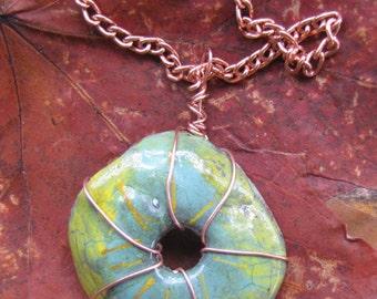 Beautiful colored enamel pendant