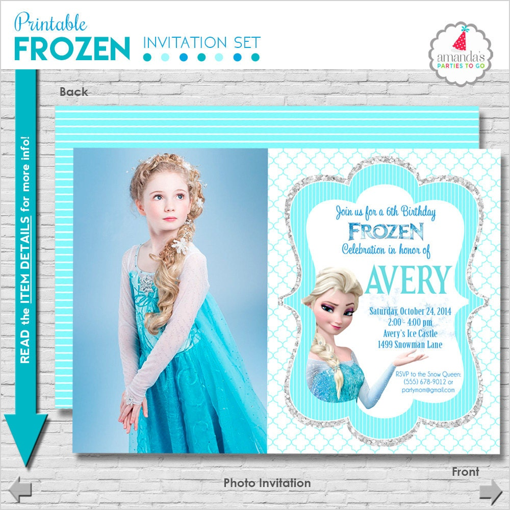 Terrible image intended for printable frozen invitations