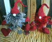 Christmas gnome, elf,  Scandinavian Jultomtar,  knitted toy, hand knit, Alan Dart
