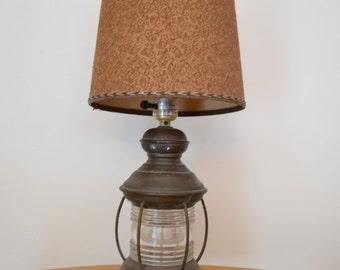 Vintage Railroad Lantern Table Lamp