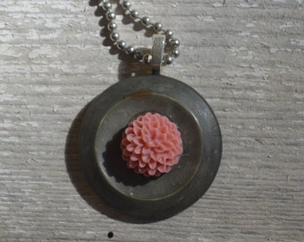 Lily Pad Fancy Nancy Button Necklace - Proceeds Benefit Cancer Research