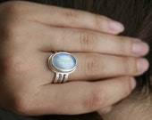 Moonstone Stacking Ring Set MADE TO ORDER in Your Size