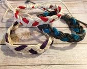 Sailor's Knot Bracelet, Rope Bracelet, Cotton Cord Bracelet, 14mm Braided Bracelet, Adjustable Sailor Bracelet, Nautical Bracelet