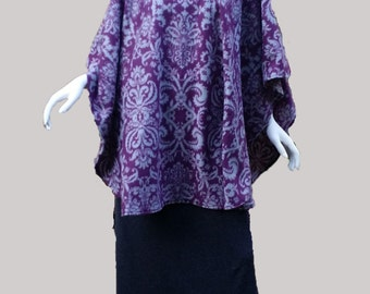 Purple Poncho (size: one size fits most; US 4 - 14)