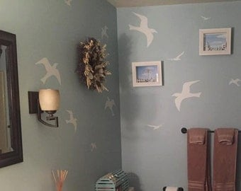 Seagull birds- Vinyl Lettering wall words quotes graphics decals Art Home decor itswritteninvinyl