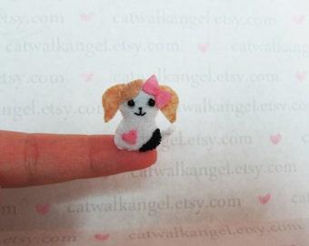 Felt Miniature - Felted Miniature dog - Felted dog - Beagle felted miniature - dog miniature - tiny dog - felted Beagle dog - tiny dog