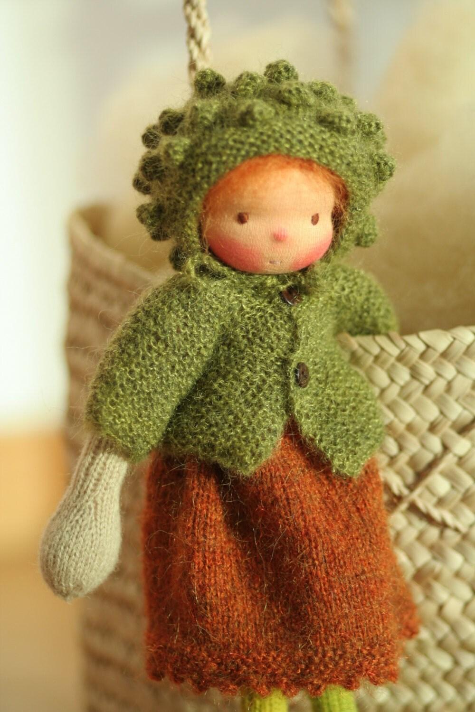 Waldorf doll Soft doll Knitted doll Camelia 14 rag