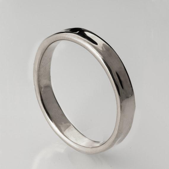 Simple Gold Wedding Band 14k White Gold Ring White by doronmerav