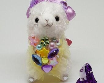 Alpacasso Arpakasso Decoden Fairy Kei Strap Charm Mini Alpaca Plushie
